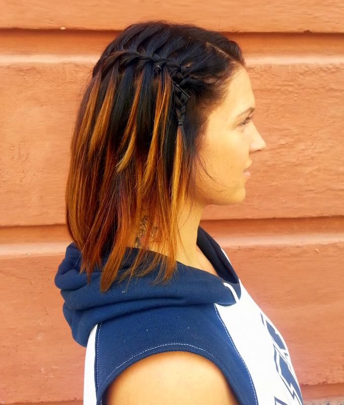 Tältä näytti mun hiukset Kurvi Hair Premieristä lähtiessä! :)