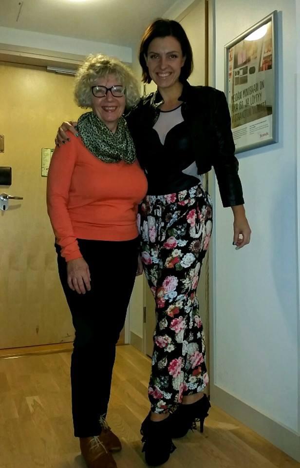 Äitin kanssa Turussa viettämässä äiti-tytär-aikaa.