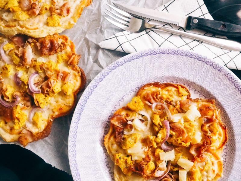 Juuston ystävän gluteeniton vohvelipizza