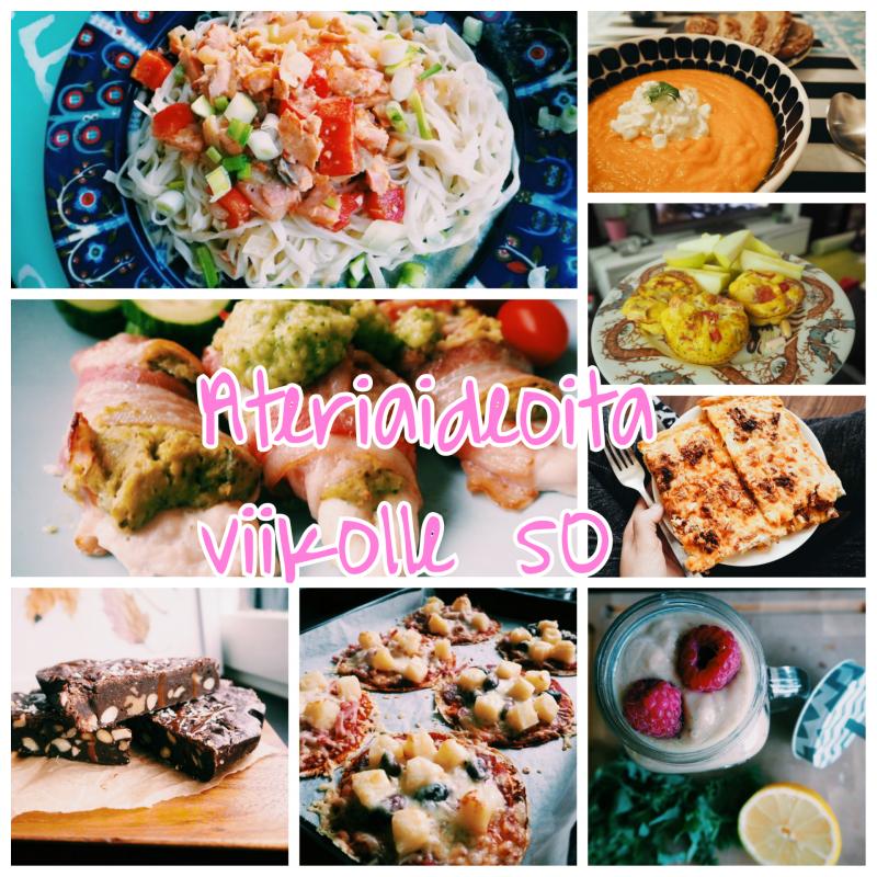 Ateriaideoita viikolle 50!