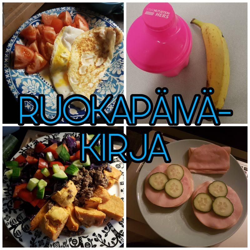 Viikon 40 ruokapäiväkirja - tarkkaa syömistä