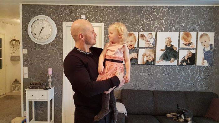 Isin pieni prinsessa jo kolme vuotta