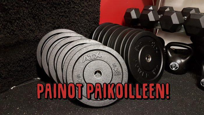 Kun painot on järjestyksessä, kulkee treenikin paremmin