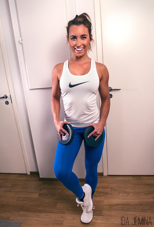 Nike-toppi täältä / Nike-legginsit täältä / Adidas-lenkkarit täältä