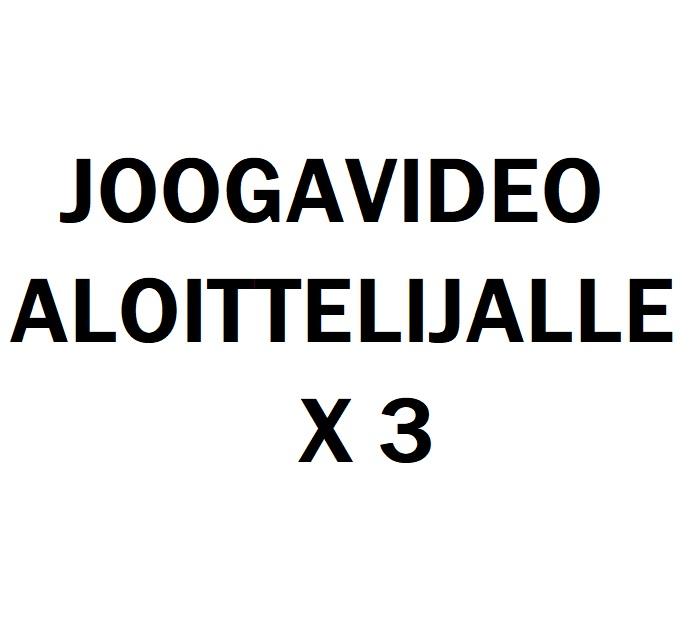 Joogavideo aloittelijalle x 3