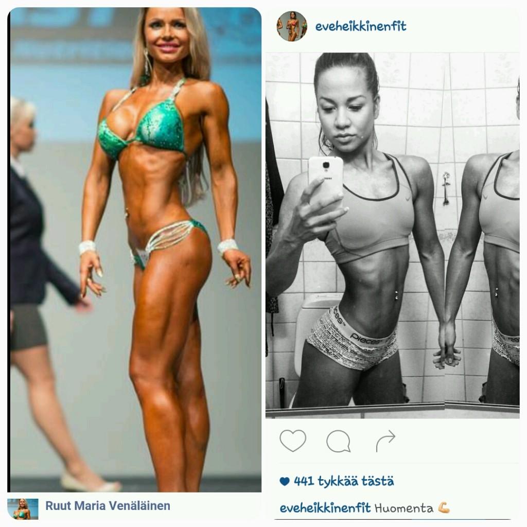 Ruut Maria Venäläinen ja oikealla Eve Heikkinen