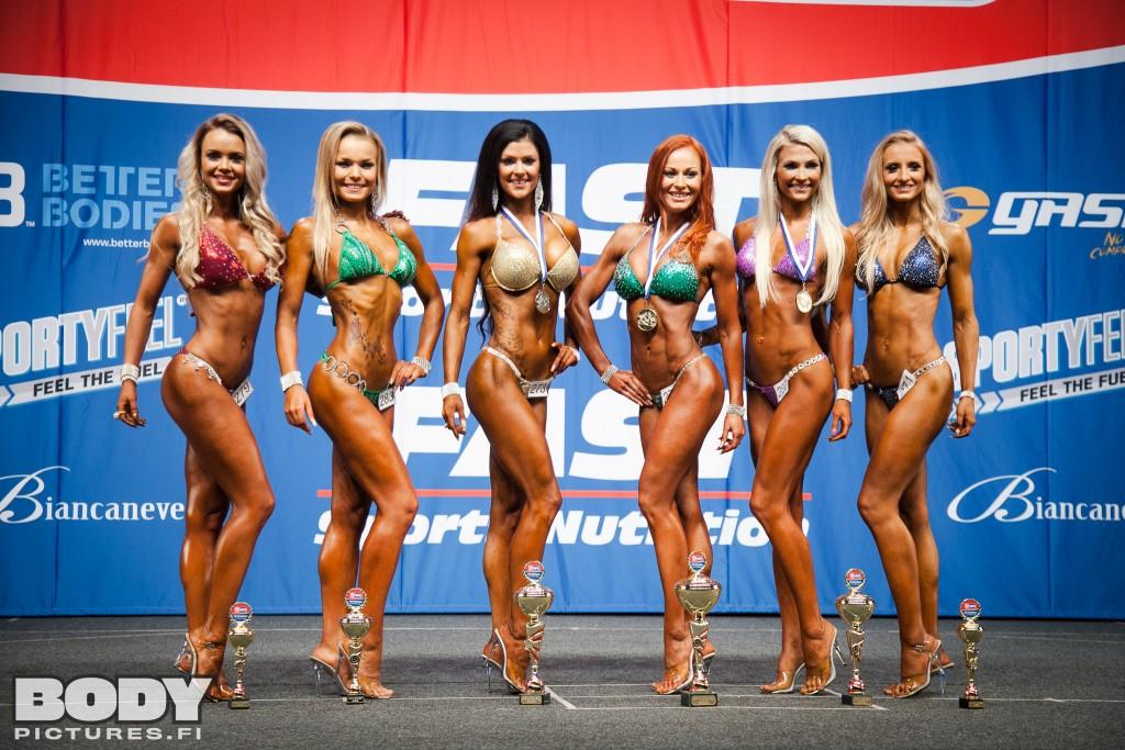 Vasemmalta oikealle: Caroliina Kinnarinen, Milla Kelahaara, Marika Hongisto, Jenni Levävaara, Susanna Mustajärvi ja Jade-Yolanda Huhtamäki