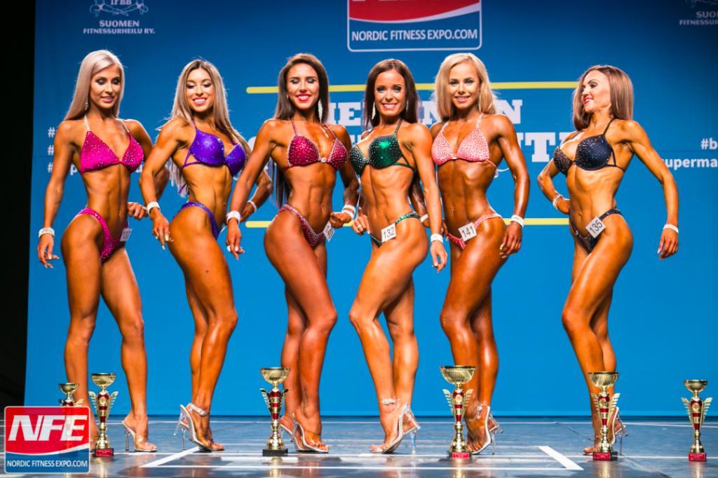 Bikini fitness NFE karsinnat - tulokset