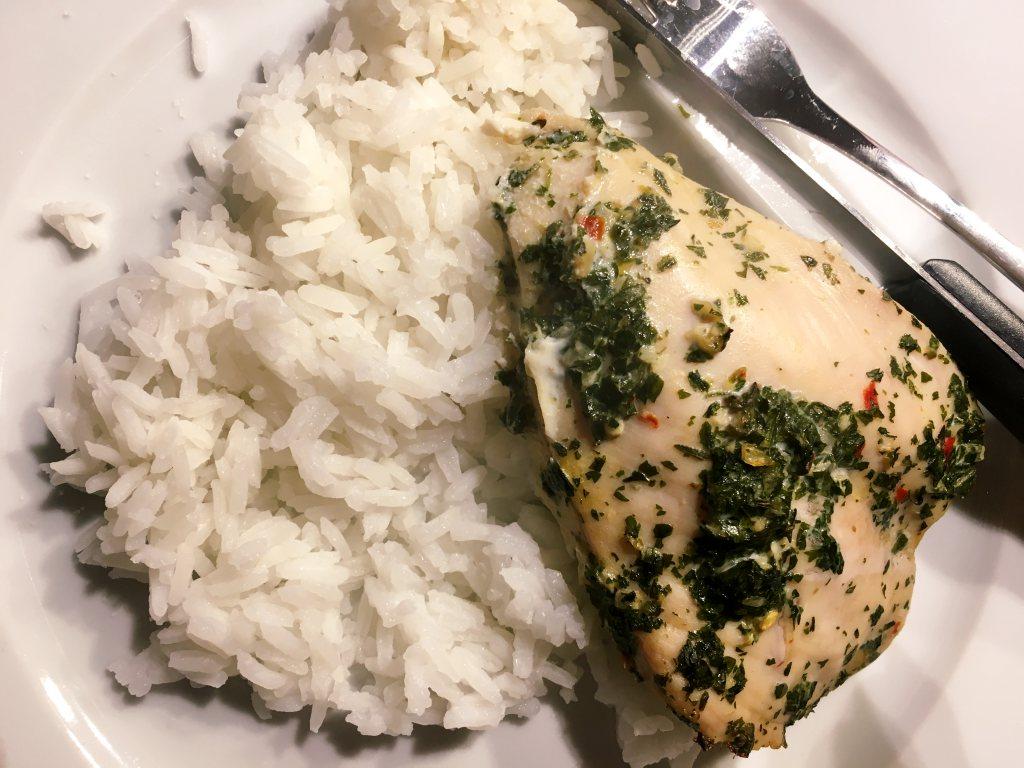 kana riisi ruokavalio