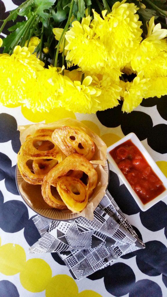 Terveellisemmät onion ringsit! (gluteeniton, vegaani)