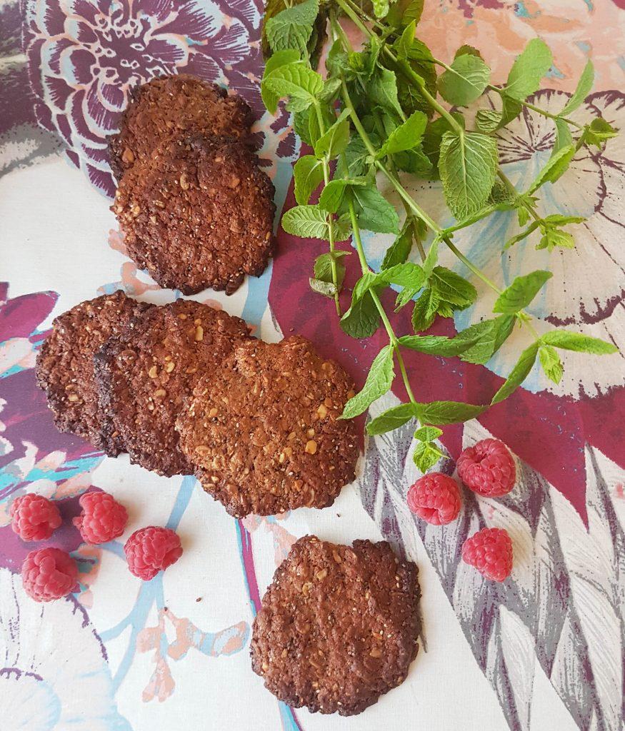 Maapähkinävoi-suklaa proteiinikeksit! (gl)