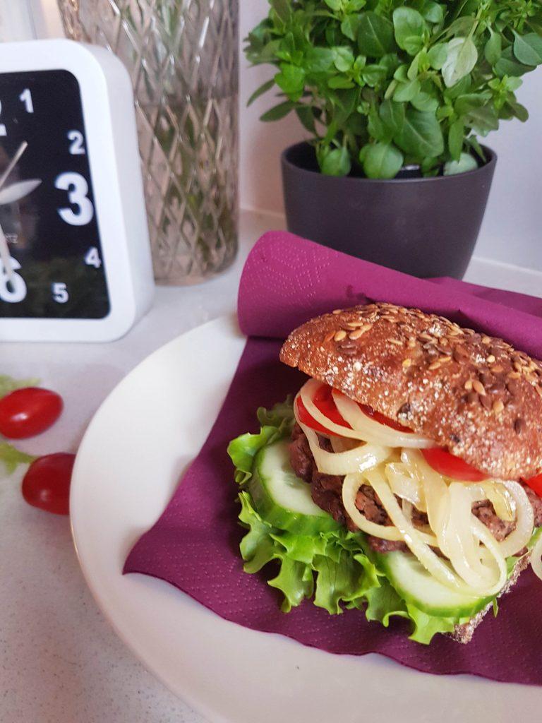 Burger - terveellisemmin (vegaani)