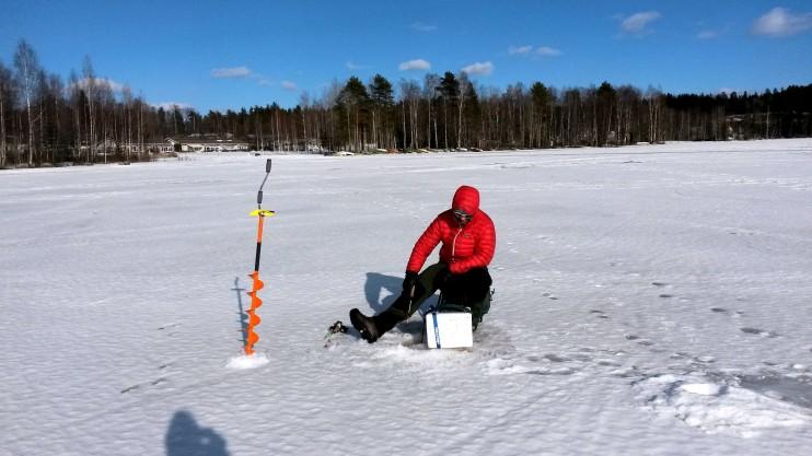 Tänään olis ollut punttisalitreenit vuorossa. Mutta kuuntelin kehoani ja läksin rennolle kävelylle lähijärven jäälle.