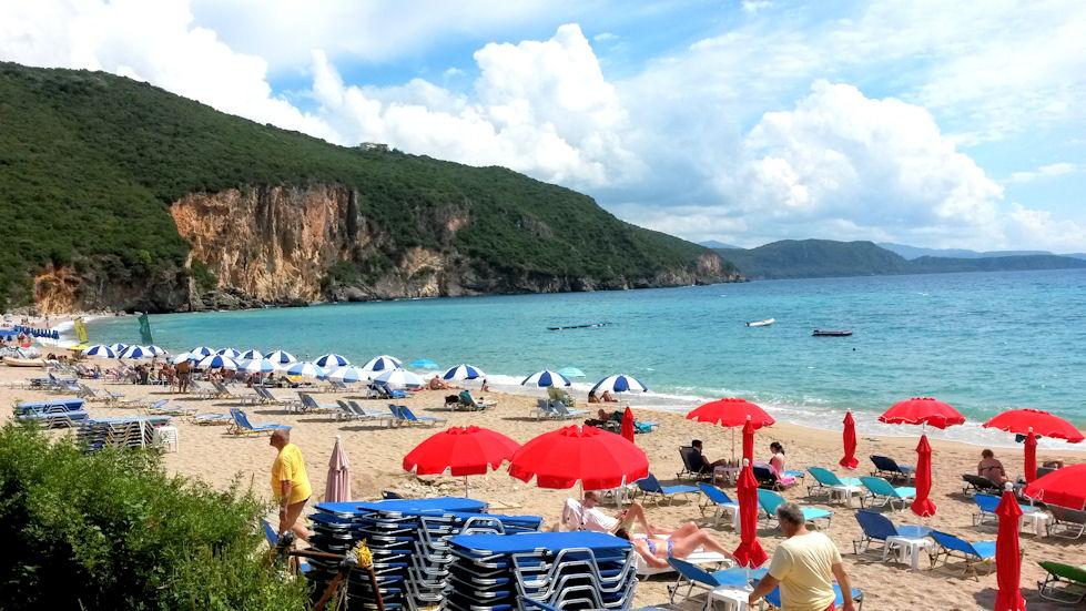 Lichnos Beach.