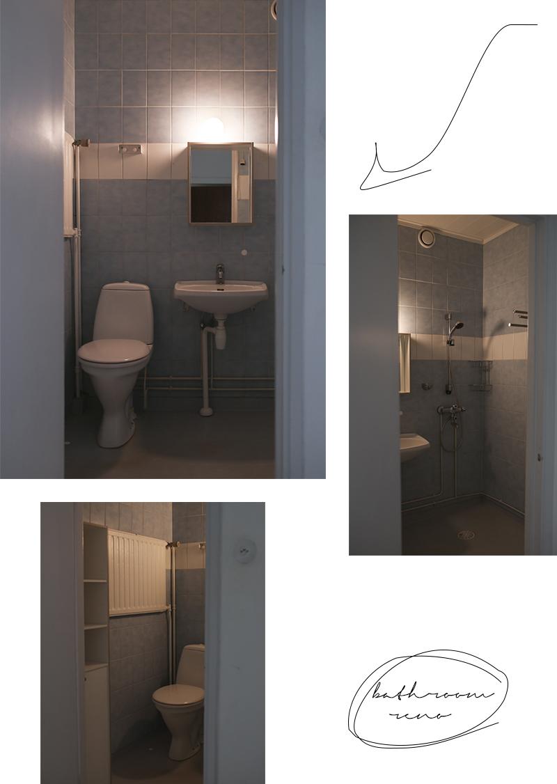 Tapaus kylpyhuone - lähtötilanne ja remonttisuunnitelmat