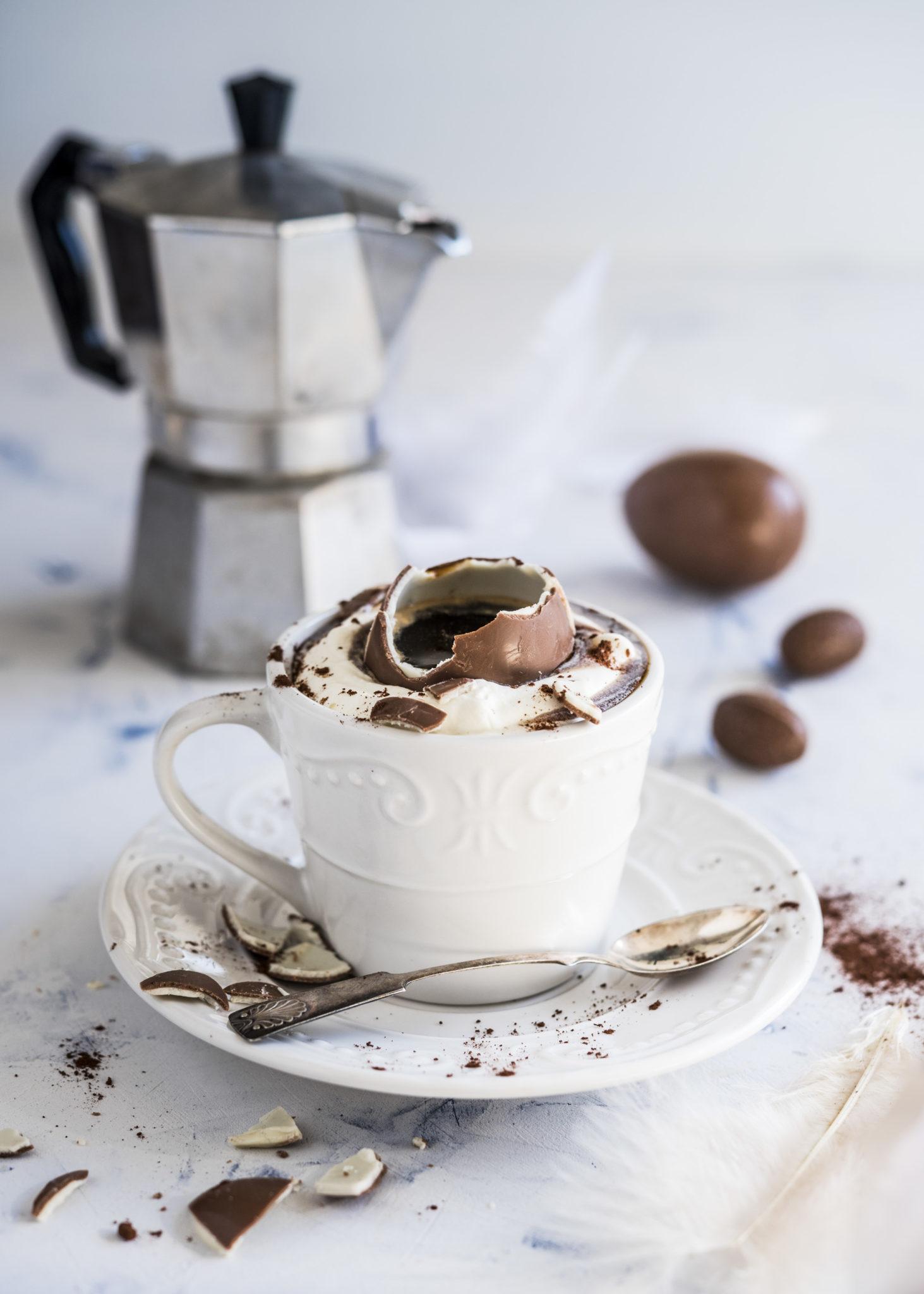 Eggpresso – tarjoa kahvi suklaamunasta