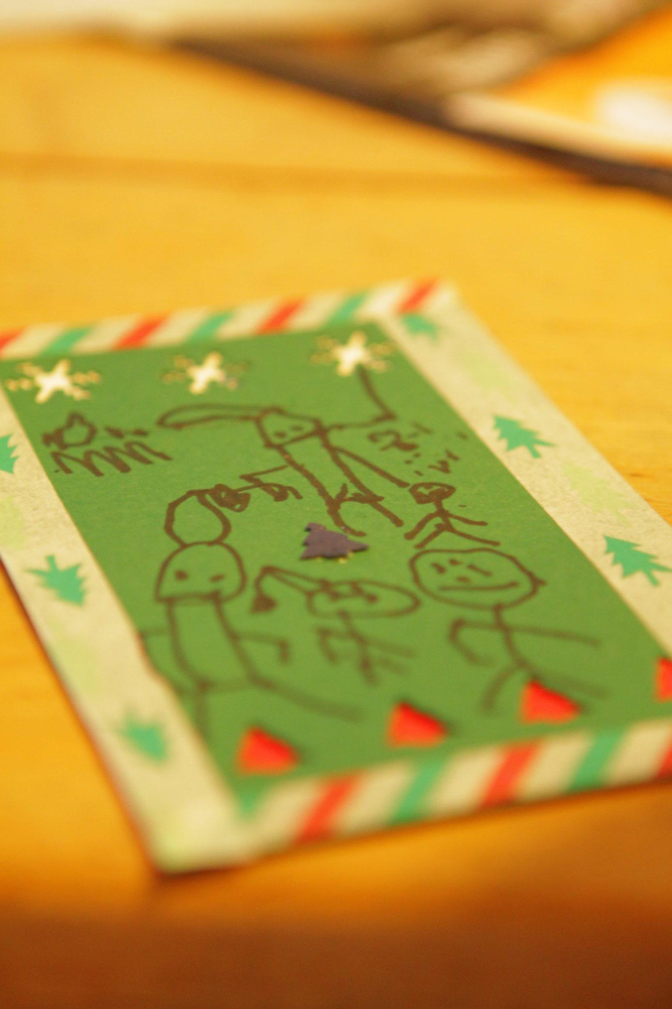 Joulukortti on teko, joka lämmittää