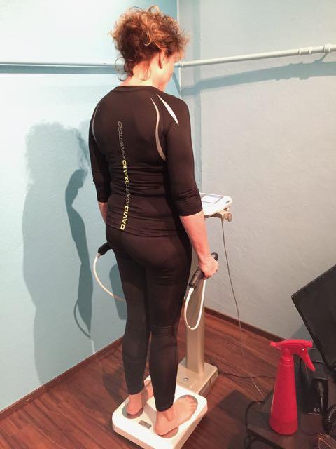 Kun teimme minulle uuden ohjelman, teimme myös kehonkoostumusmittauken. Tulokset olivat oikein hyvät. Kehoni ikä on oikeaa ikääni 15 vuotta vähemmän.