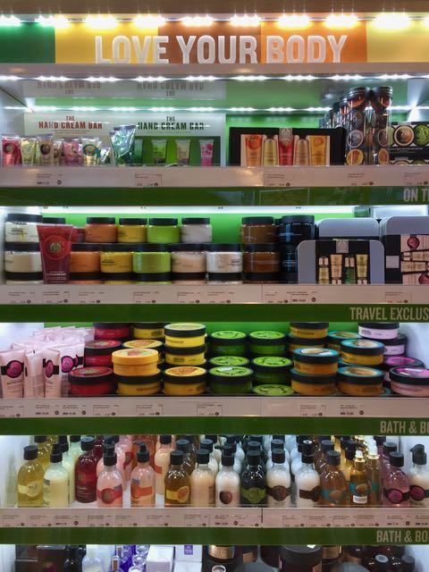 The Body Shop - eettistä kosmetiikkaa.