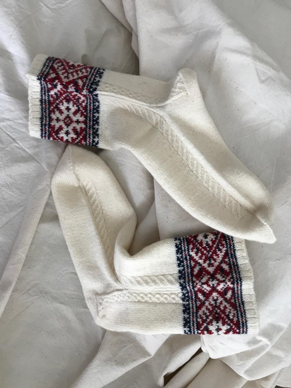 Tuliainen itselleni - ihana villasukat!