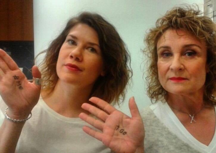 #metoo Aamu TV:ssä yhdessä Heidi Lindenin kanssa. Kuva: Saara Rantanen