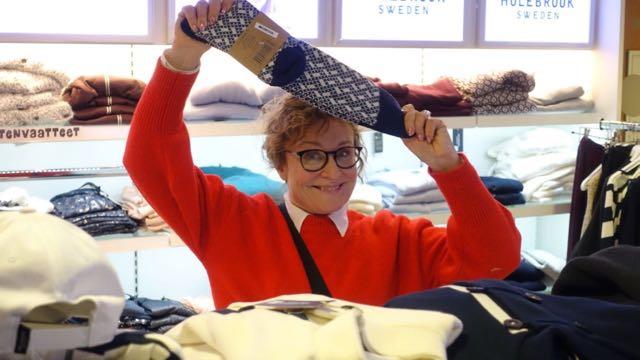 Ostin viimeksi villasukkia myös laivalta! Nää on tosi hyvät! Jalat rakastaa villaa!
