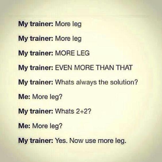more leg