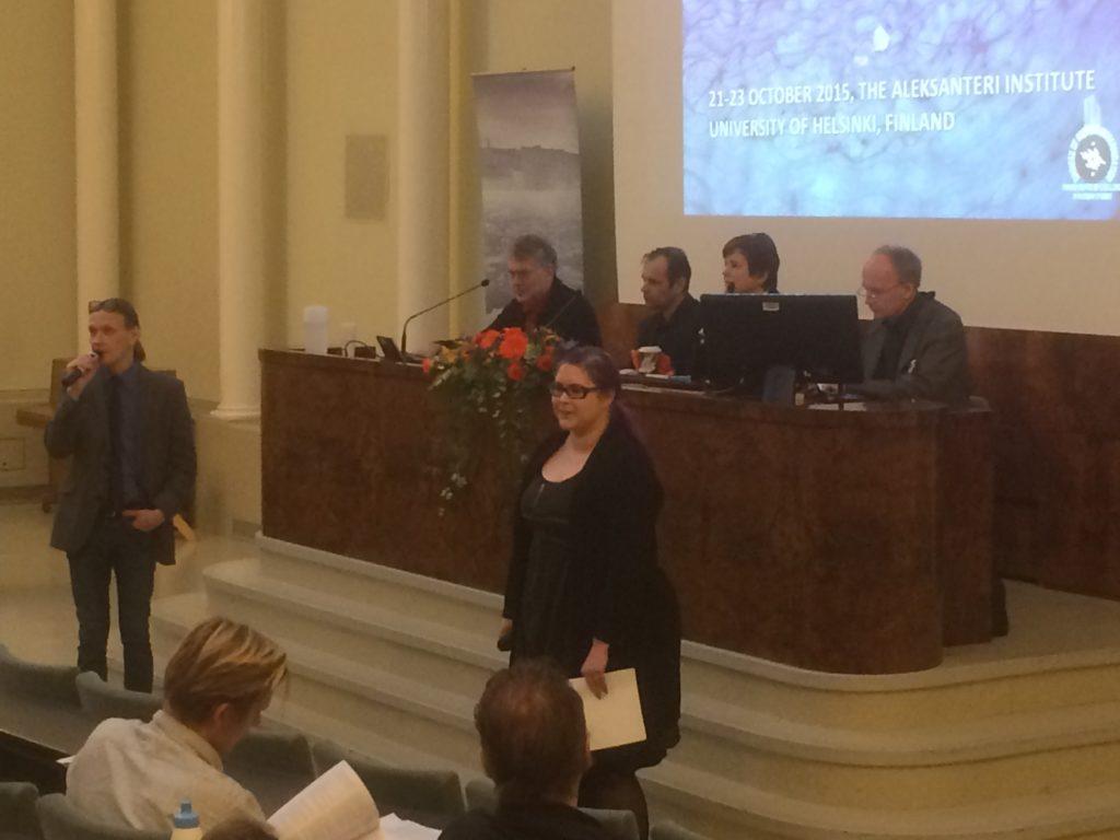 Kuvassa Tomi Huttunen (vas), Artjom Troitski Maria Pettersson, Roman Sentšin, Irina Prohorova, ja Kalle Kniivilä.