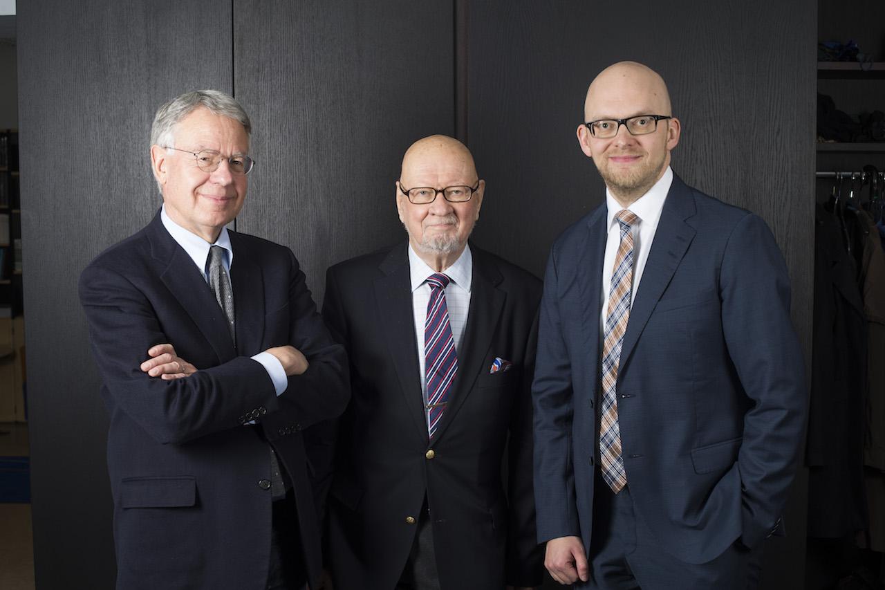 René Nyberg, Jaakko Iloniemi ja Petri Hakkarainen