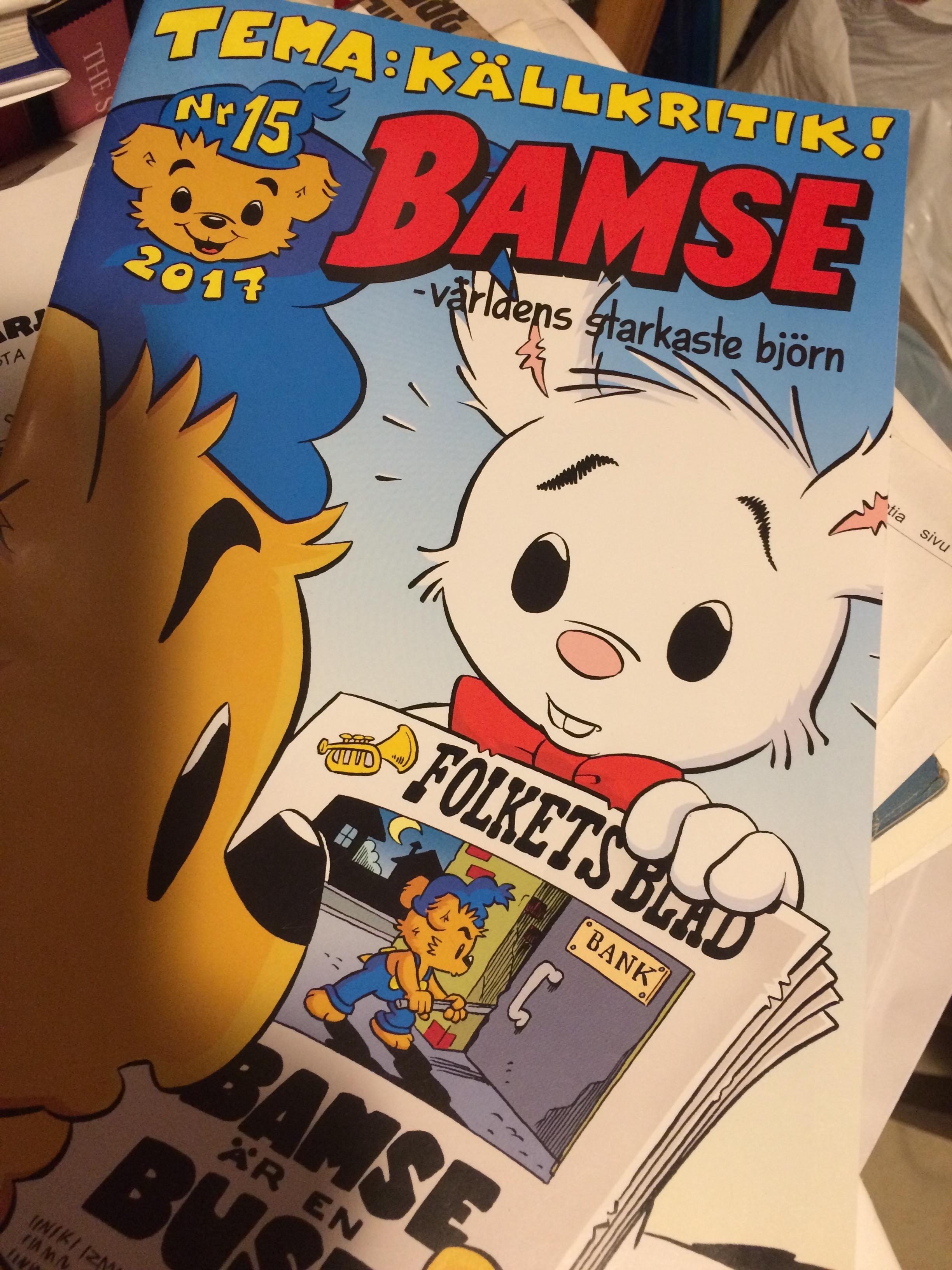 Järisyttävä kansi: onko Bamse voro?