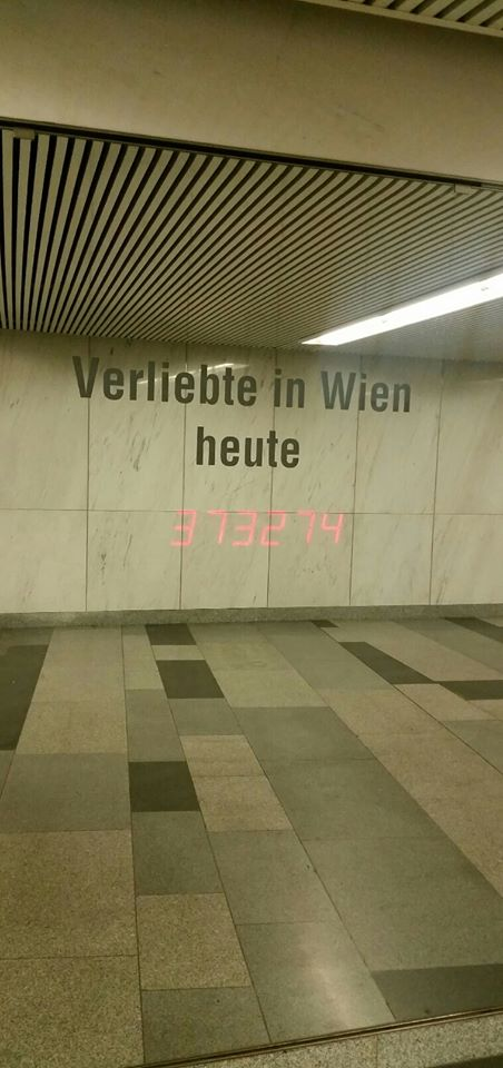 Rakastuneiden määrä Wienissä vaihtelee joka hetki.