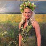 Miten Johanna Oraksen maalaus toimii vaatteessa?