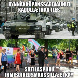 Koomikko Ilkka Kivi julkaisi aiheen tiivistävän kuvan