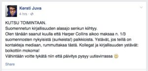 Suomentajat asettivat HarperCollinsin boikottiin