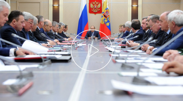 Security Council Meeting. Vladimir Putin held a Security Council meeting to discuss state policy on Russia's nuclear, radiation, chemical and biological security. Lähde: kremlin.ru
