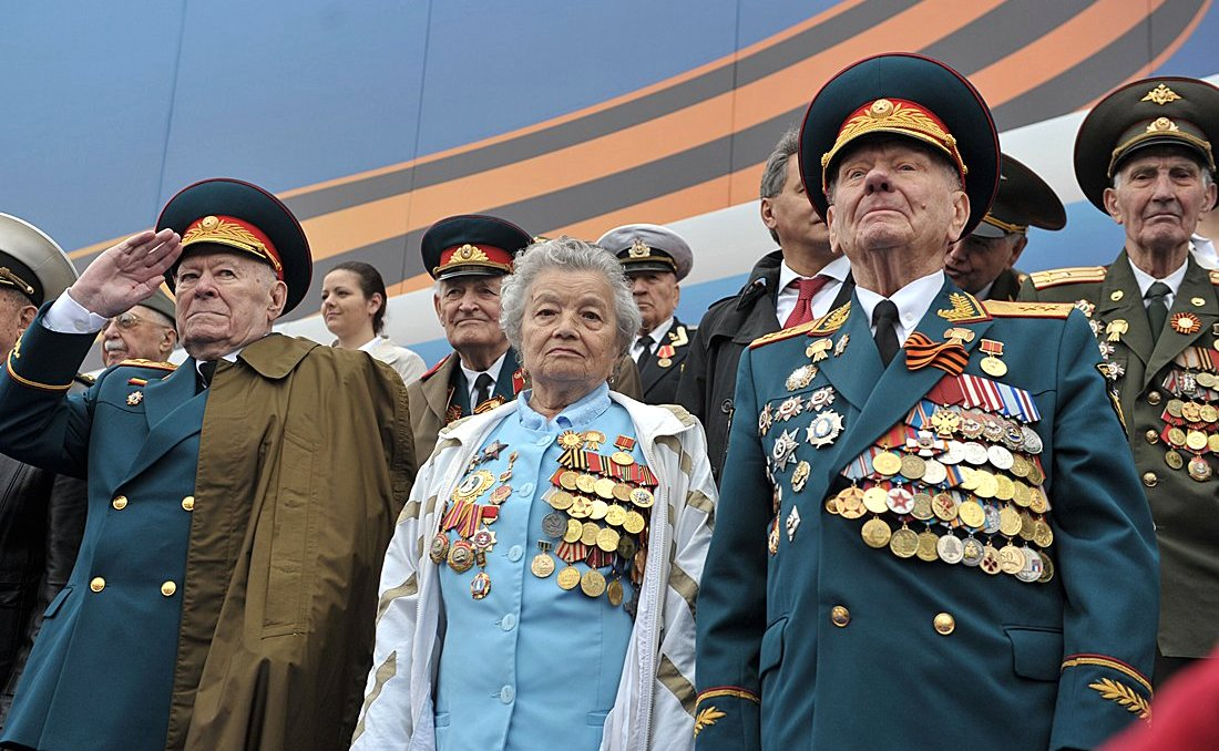 At the military parade on Red Square to celebrate the 67th anniversary of Victory in the Great Patriotic War. Photo: kremlin.ru