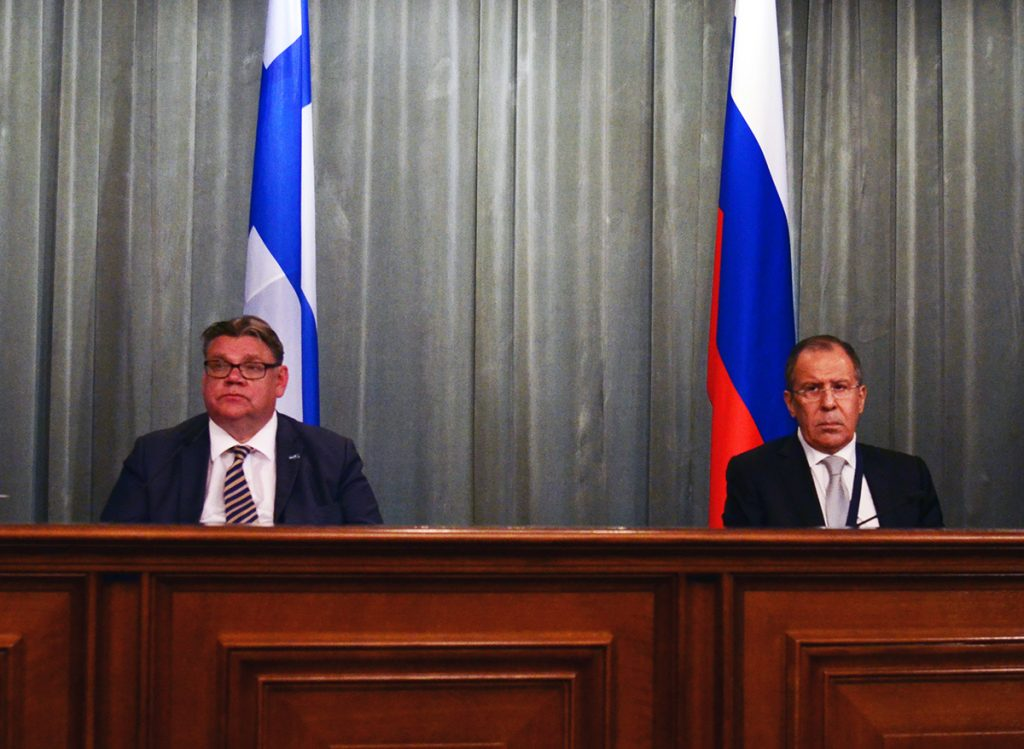 A joint news conference following talks with Foreign Minister of the Republic of Finland Timo Soini, Moscow, June 6, 2016. Photo: The Ministry of Foreign Affairs of the Russian Federation.