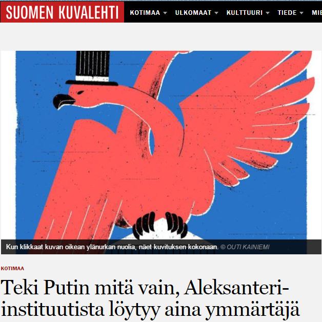 SK: Teki Putin mitä vain, Aleksanteri-instituutista löytyy aina ymmärtäjä. Lähde ja kuva: SK. Klikkaa kuvaa päästäksesi lukemaan artikkeli.
