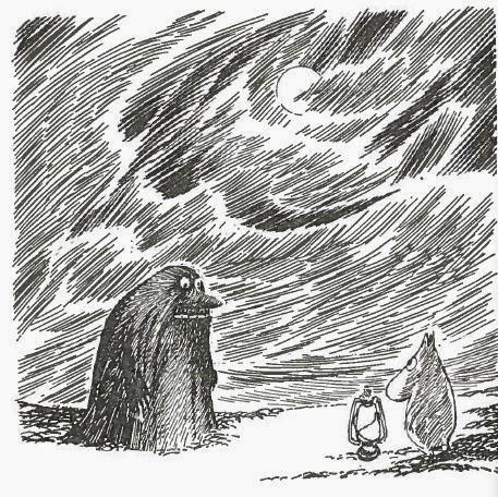 Muumi ja mörkö. Tove Janssonin kirjasta Muumipappa ja meri.