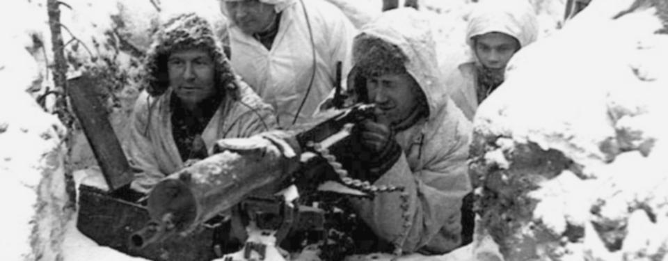 Den ikoniska vinterkrigsbilden. Den 30 november 1939 anföll sovjetiska trupper Finland. Foto: Library of Congress