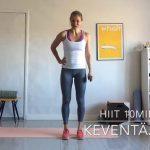 HIIT -kotitreeni  10, 20 tai 30 min - Päätä itse! VIDEO