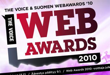 Voice WebAwards - mitä puuttuu?