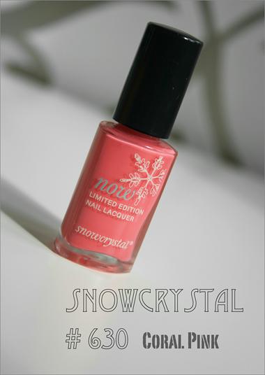 Snowcrystal Coral Pink - kesän kaunein lakka