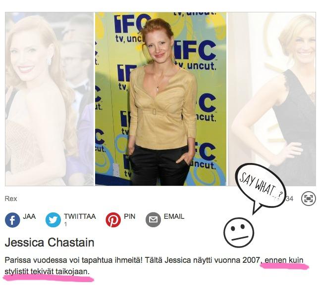 Julkkiskauneus_JessicaChastain