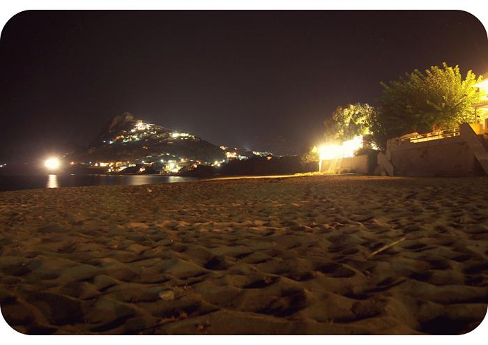 Beach And Aubergine At Night