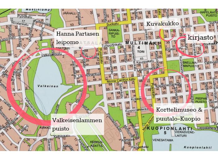 Rakkaimmat Kuopio-paikkani