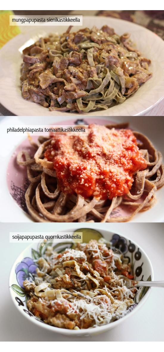 2 x pasta - kumpi voitti?