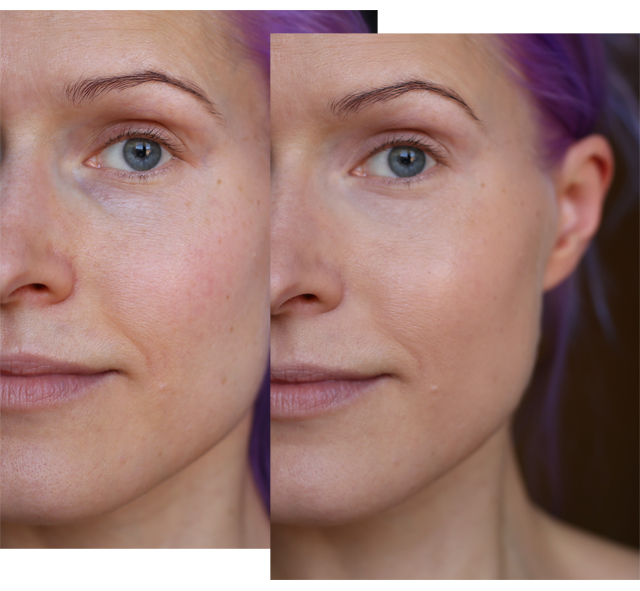 Lavera Nude Efffect makeup before after