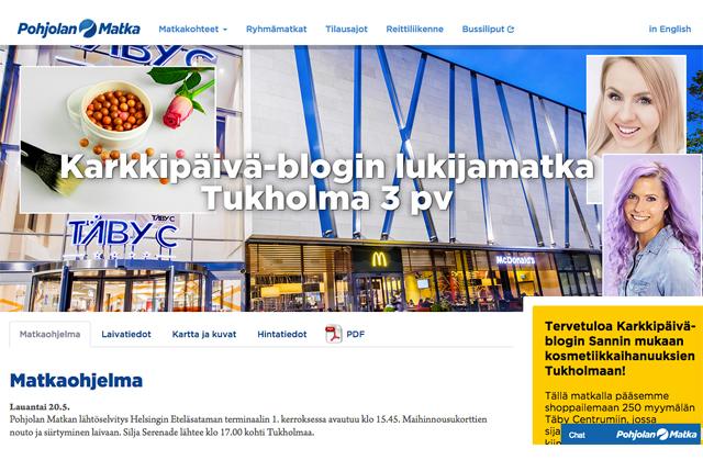 Lukijamatka vol. 3: shoppailemaan Tukholmaan ja Sephoraan