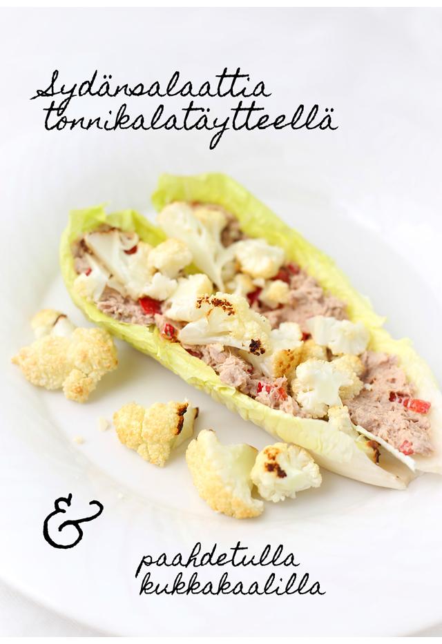 Sydänsalaatti tonnikalatäytteellä